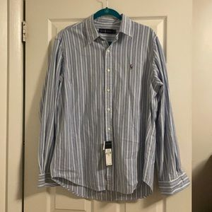 NWT Ralph Lauren Cotton Button shirt L